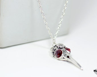 Bird skull pendant