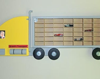 Toy Truck Car Carrier wall hanging display (additional Tandem Trailer available)