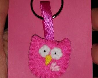 Owl Teeny Felt Keyring