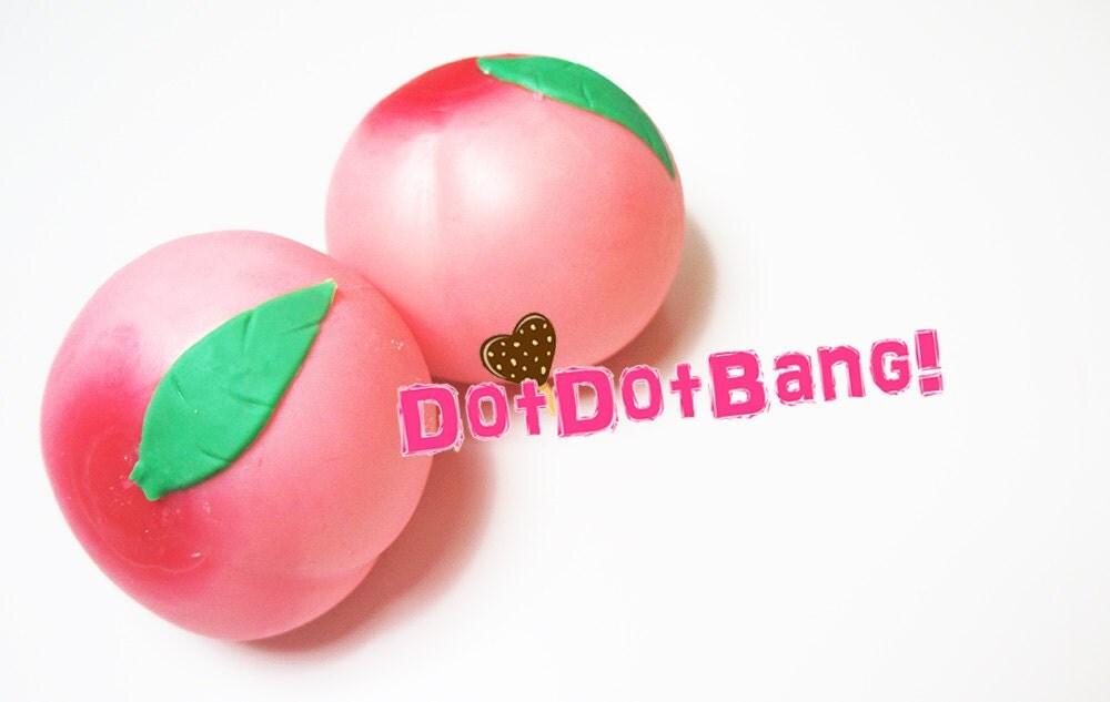 Squishy Jumbo Peach : Jumbo Peach Squishy 8cm Cute Kawaii Flour Squishies by DotDotBang