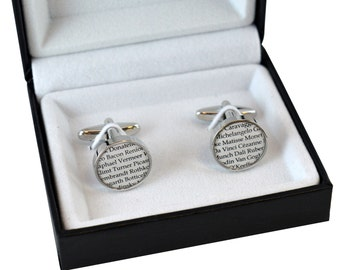 Larking Student / Artists / History of Art Lovers Cufflinks with Gift Box