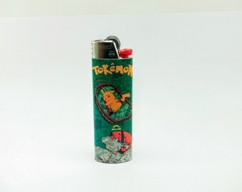 Pokemon Tokemon Pikachu, Charmander Custom Lighter - Marijuana, Weed, Cannabis, Stoned