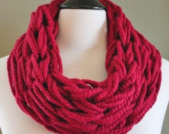 Claret Single Arm Knit Scarf