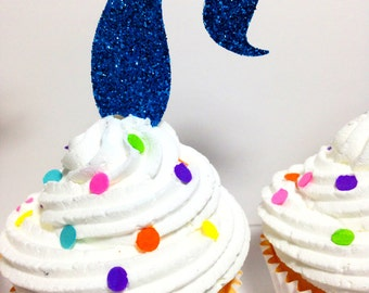 Mermaid Tail Cupcake Toppers