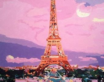 Eiffel Tower Acrylic Painting, Paris Painting, Painting By GalleryNatali