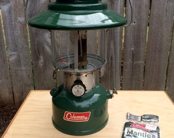 Vintage Coleman Lantern, Coleman Lantern, Model 228F, Coleman, Camping Gear, Gas Lantern, Survivalist Gear, Camping supply
