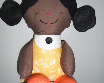 Rag Doll African American Wmimsical 18 Inches.