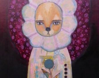 Whimsical Lion Child