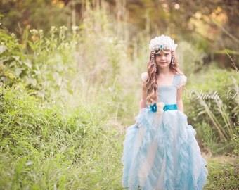 Flower Girl Dress, Princess Dress, Girls Couture Dress, Cinderella Dress, Girls Tulle Dress, Princess Dress, Birthday Dress