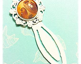 Owl Bookmark White Clip