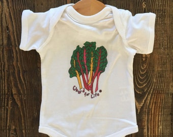 Chard For Life // Baby Bodysuit (White, 6 mo)