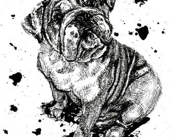 Oops! Sorry about that... - English Bulldog Print