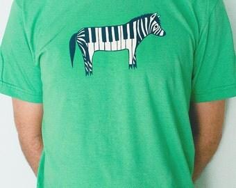 Music Gift - Piano Zebra Shirt - Music Gifts, Unique Shirt, Music Tshirt Music Shirt Green Shirt, Piano Shirt, boygirlparty, boy girl party