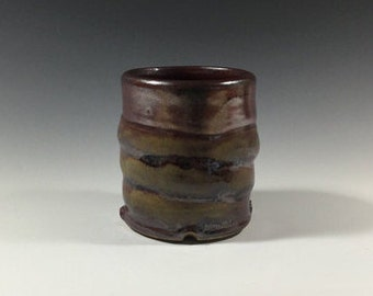 Brown Cup - Ceramic Barware - Old Fashioned Cup - Lowball - Rocks Cup - Wine Cup