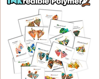 Polymer clay tutorial, Alcohol inks tutorials, Polymer clay jewelry class  | INKredible2 Polymer | 20 PDFs, 20 projects, 26 Videos, CD, Kit