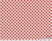 HALF YARD Lecien - Red Mini Dots with Blue Ultra-mini dots - Retro 30s Child Smile Collection - Japanese Import Fabric