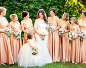 reserved lijuls Radical Thread Infinity Dress in rosegold blush rosewater champagne putty rose dusty pink Slow Fashion Made in the USA