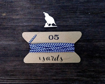 Navy and White Diagonal Striped Ribbon, Black White Gift Wrapping, Nautical Wedding, Skinny Thin 1/8 inch wide x 5 yards