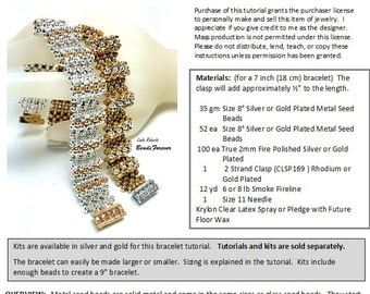 Beading Tutorial - High Rise Metal Bead Bracelet - Right Angle and Cubic RAW Jewelry Pattern