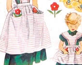Mother Daughter Apron Baker and little bakers helper Chef 50s vintage Simplicity 4139 vintage sewing pattern Retro Style UNCUT
