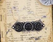 Luna Ascending // Triple Goddess Necklace  // All Hollows Eve Series // Black Moon Sterling Silver by BellaLili