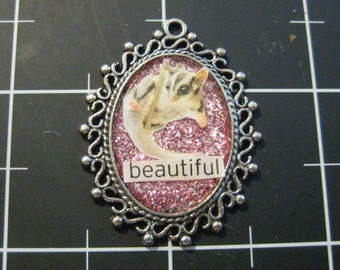 "Sugar Glider ""Beautiful"" Delicate Lace Pendant, 50% goes to the charity of the month"