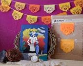 Dia de Los Muertos - Day of the Dead - Papel picado Mexican banners