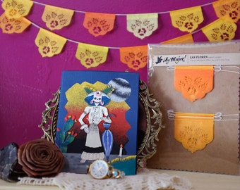 Dia de Los Muertos - Day of the Dead - Papel picado Mexican banners