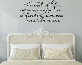 Wall Quote Decal Someone You Can't Live Without Love Master Bedroom Wall Art Decor Statement Vinyl Decal