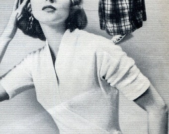 1950s Claire McCardell Sexy Wrap Blouse pattern PDF