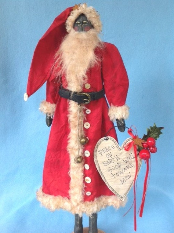 OOAK Collectible Folk Art Santa Prototype Art Doll