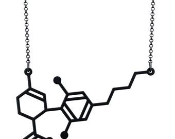 CBD Necklace - Matte Black