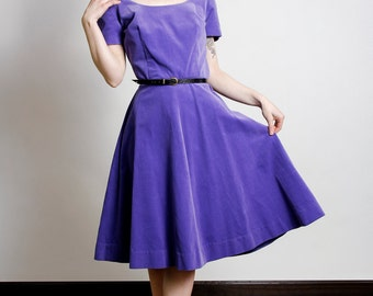SALE - Purple Velveteen Dress