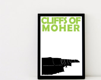 Cliffs of Moher Print // Ireland Travel Art Print // Cliffs of Moher Poster // Irish Print // Irish Art // Irish Gift // Gift for Brother