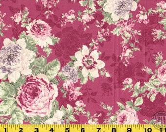 Rose Bouquet - Quilt Gate Ruru Bouquet - QG220011E magenta, select length