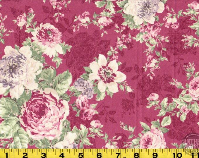 Rose Bouquet - Quilt Gate Ruru Bouquet - QG220011E magenta, select length