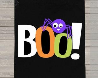 Trick or treat bag personalized BOO Halloween bag - DARK Halloween candy bag