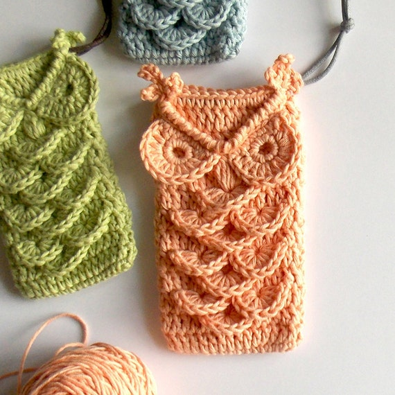 Crochet Drawstring Pouch Pattern : Florence The Owl Crochet Drawstring Pouch Pattern
