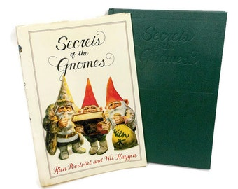 Vintage Book | SECRETS of the GNOMES | Hardcover Large | Fairies Fantasy | Fiction Animals | Illustrated | USA