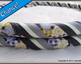 GLoW in The DaRk Travel Hula Hoop 'MOD FLORAL GLoW' -  In Grey/Yellow/Black. Limited Edition.