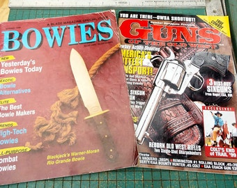 Bowie Knife magazine, Vintage 1990 Special Issue, also old Guns of the Old West magazine