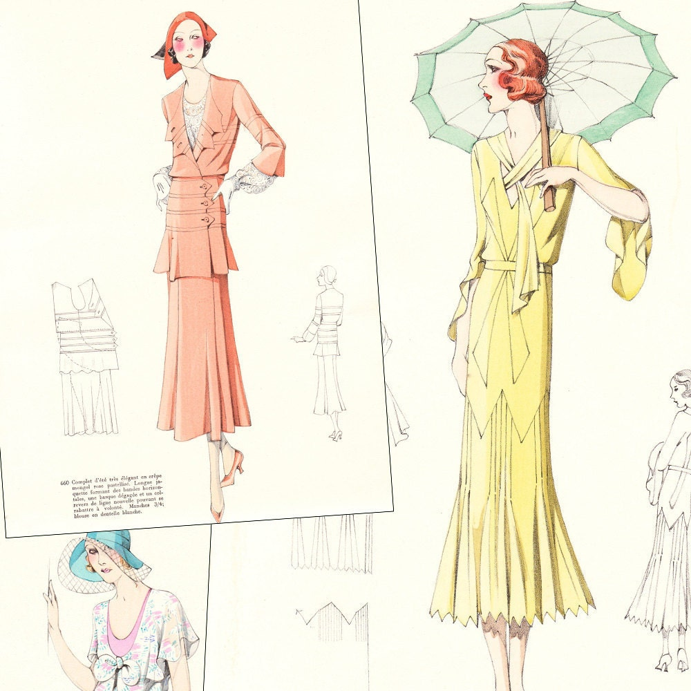 Pdf of 30s haute couture sewing pattern catalog by for Haute couture seamstress