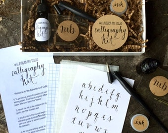 Calligraphy Starter Kit - Beginner Calligraphy Lettering Set