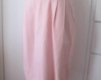 Vintage Sag Harbor Pencil Skirt with Pockets, Pale Pink, Soft Pink, Pink Pencil Skir, Hourglass, Size 12, Size 15, Curvy, Work Skirt, 1960s