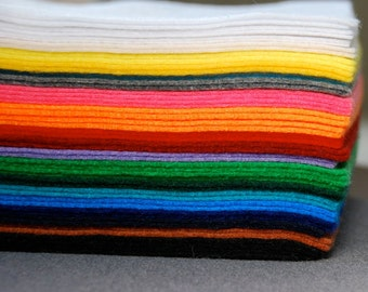 "Acrylic Craft Felt Sheets - Assorted Color Packs, 9"" X 12"", Multiple Pack Sizes Available"