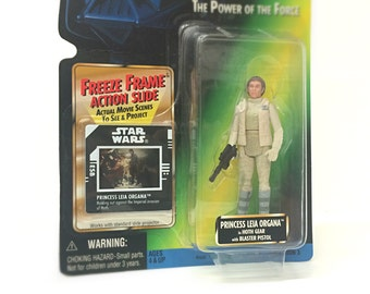 Vintage Star Wars Princess Leia in Hoth Gear Action Figure with Blaster - 1990's Kenner Star Wars Toy in Original, Unopened Packaging