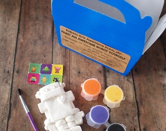 DIY Robot Paint Kit - Kids Craft Kit, DIY Craft Kit, Paint Your Own Robot