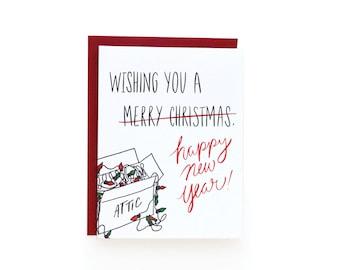 Happy New Year (single letterpress card)