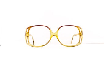 Persol Eyeglasses Frames //Women's Vintage 1960's/1970's// Translucent Yellow Frames // #M236