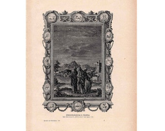 1900 STARRY SKY LITHOGRAPH original antique print - celestial astronomy lithograph
